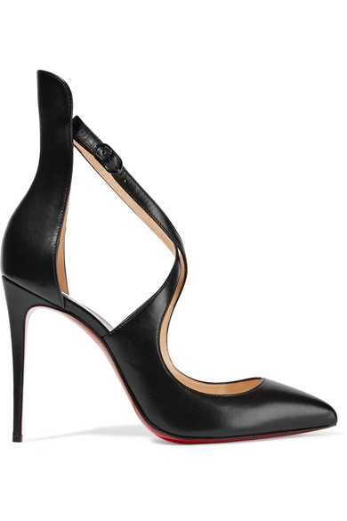 christian louboutin female christian louboutin marlenarock 100 leather pumps black
