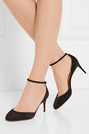 Christian Louboutin Rounditown 70 suede pumps