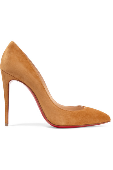christian louboutin female christian louboutin pigalle follies 100 suede pumps yellow