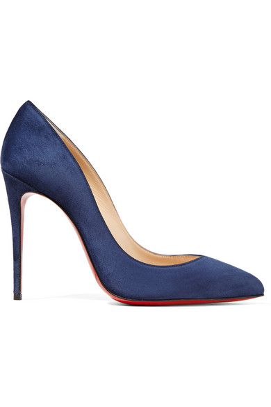christian louboutin female christian louboutin pigalle follies 100 suede pumps navy