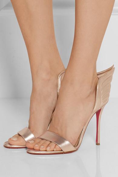 5297f7396b7 Samotresse 100 metallic leather sandals