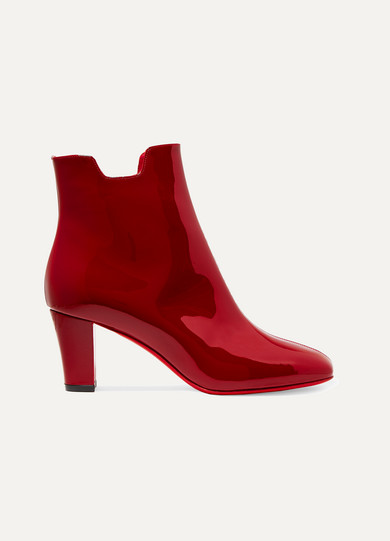 christian louboutin female 124897 christian louboutin tiagada 70 patentleather ankle boots claret