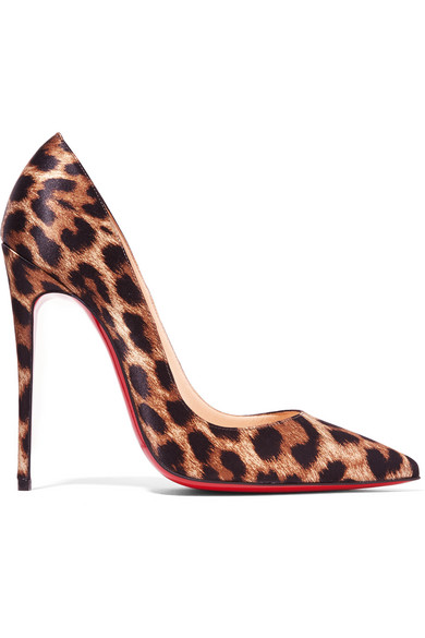 e1d9145f239 So Kate 120 leopard-print satin pumps