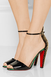 Christian Louboutin Tropanita 100 studded patent-leather sandals