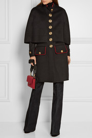Burberry Cape-back wool and cashmere-blend coat