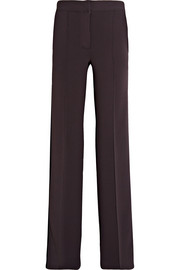 Striped stretch-jersey wide-leg pants