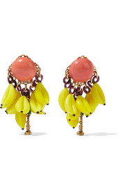 Erickson Beamon Copacabana gold-plated enamel earrings