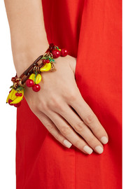 Erickson Beamon Copacabana gold-plated, enamel  and acrylic bracelet