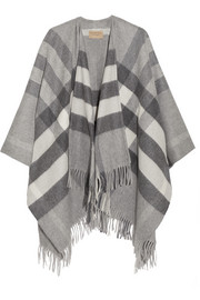 London checked cashmere and merino wool-blend wrap