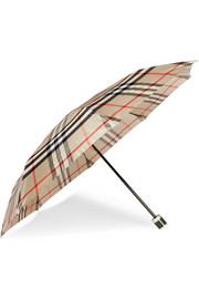 London checked twill umbrella
