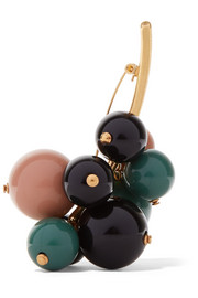Marni Gold-plated resin brooch