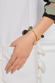 Marni Gold-plated resin cuff