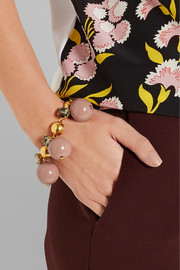 Marni Gold-plated, crystal and resin bracelet