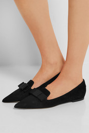 Jimmy Choo Gala suede point-toe flats