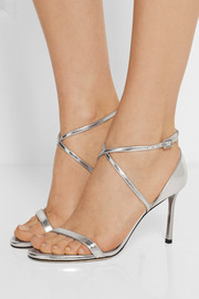 Jimmy Choo Memento Hesper metallic leather sandals