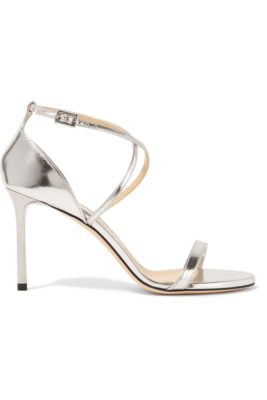 4e786359ae77 Jimmy Choo Memento Hesper Metallic Leather Sandals