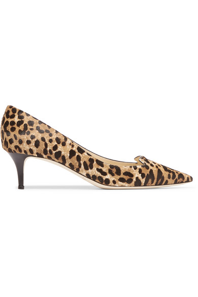 Jimmy Choo - Allure Leopard-print Calf Hair Pumps - Leopard print