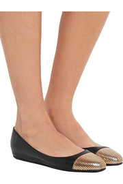 Jimmy Choo Waine embellished leather ballet flats