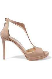 Jimmy Choo Lana 100 suede sandals
