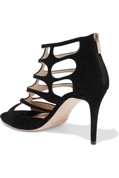 Jimmy Choo Ren 90 Sandals From Suede With Cut-outs