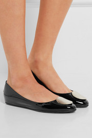Jimmy Choo Wray patent-leather ballet flats