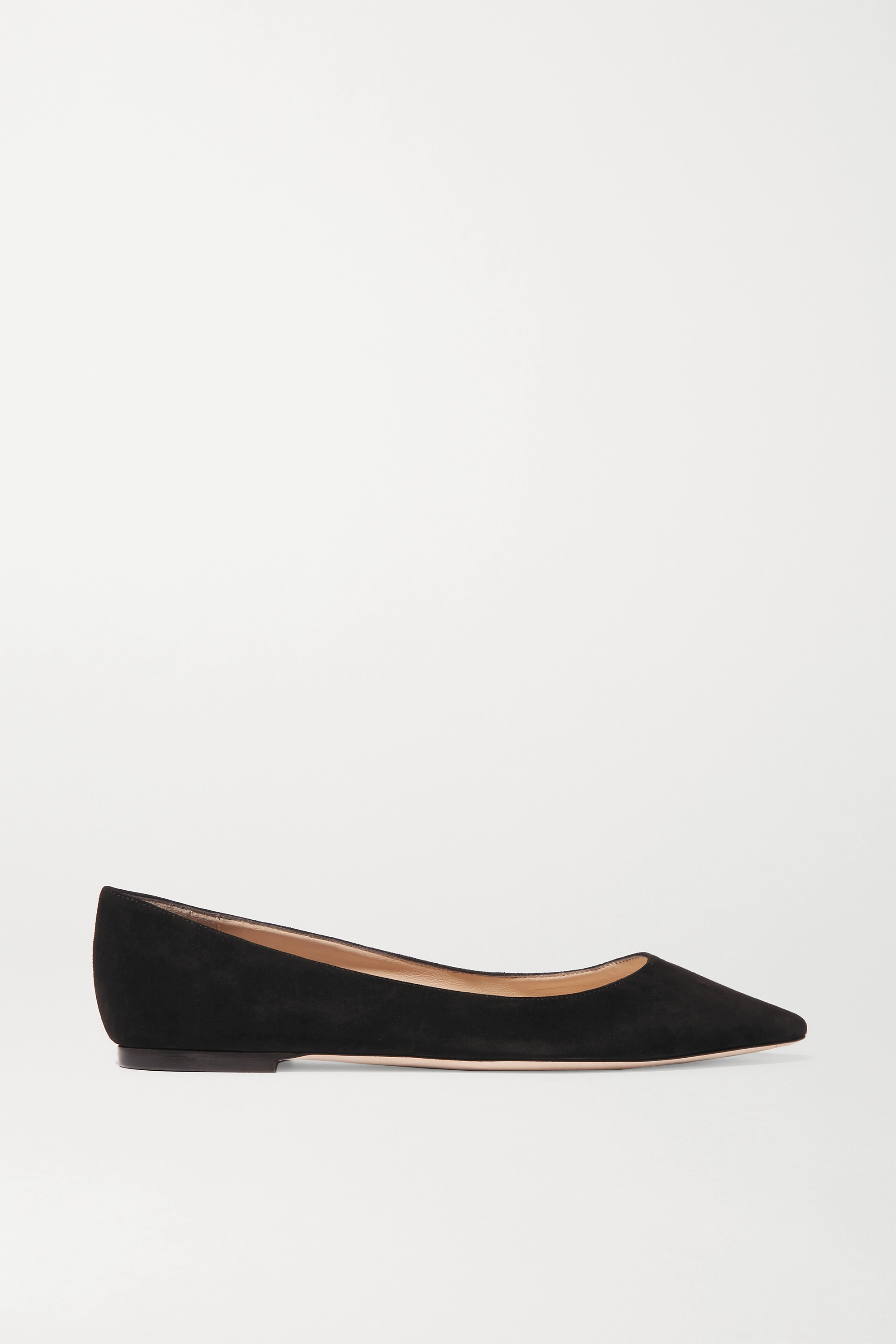 Black Romy suede point-toe flats