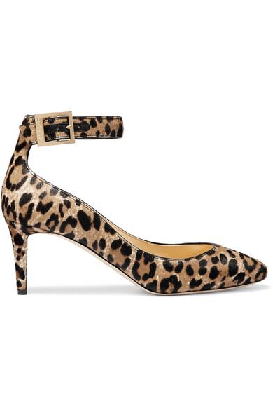 Jimmy Choo - Helena Leopard-print Calf Hair Pumps - Leopard print