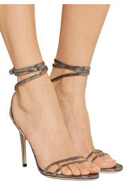 Jimmy Choo Memento Tizzy textured-leather sandals