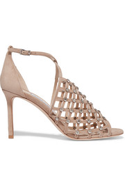 Jimmy Choo Donnie crystal-embellished suede sandals