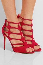 Ren cutout suede sandals