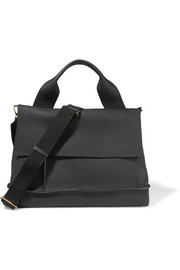 City Pod textured-leather shoulder bag