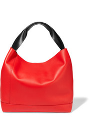 Pod two-tone leather tote