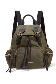 Burberry Prorsum Small leather-trimmed gabardine backpack