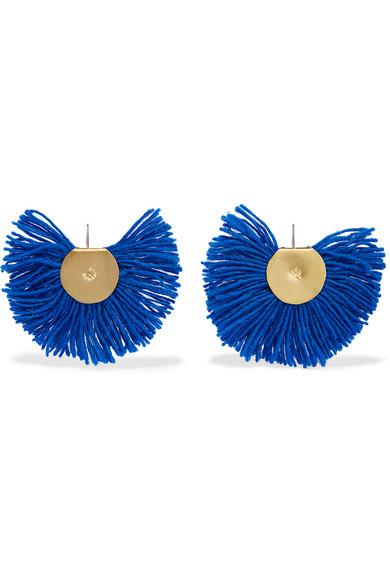Katerina Makriyianni fan earrings - Blue 4g93D