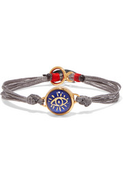 Lucky Charm gold-plated, silver and lapis lazuli bracelet