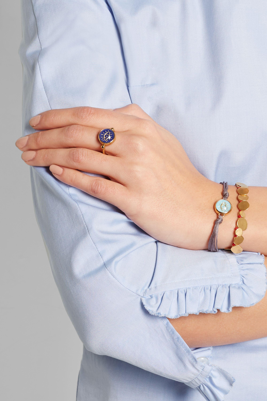 Katerina Makriyianni Gold-plated lapis lazuli ring
