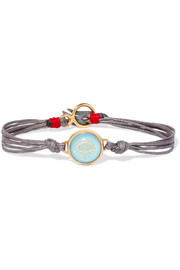 Lucky Charm gold-plated turquoise bracelet
