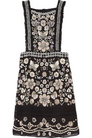 Needle & Thread Embellished georgette mini dress