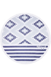 The Beach People The Montauk round woven cotton-terry towel