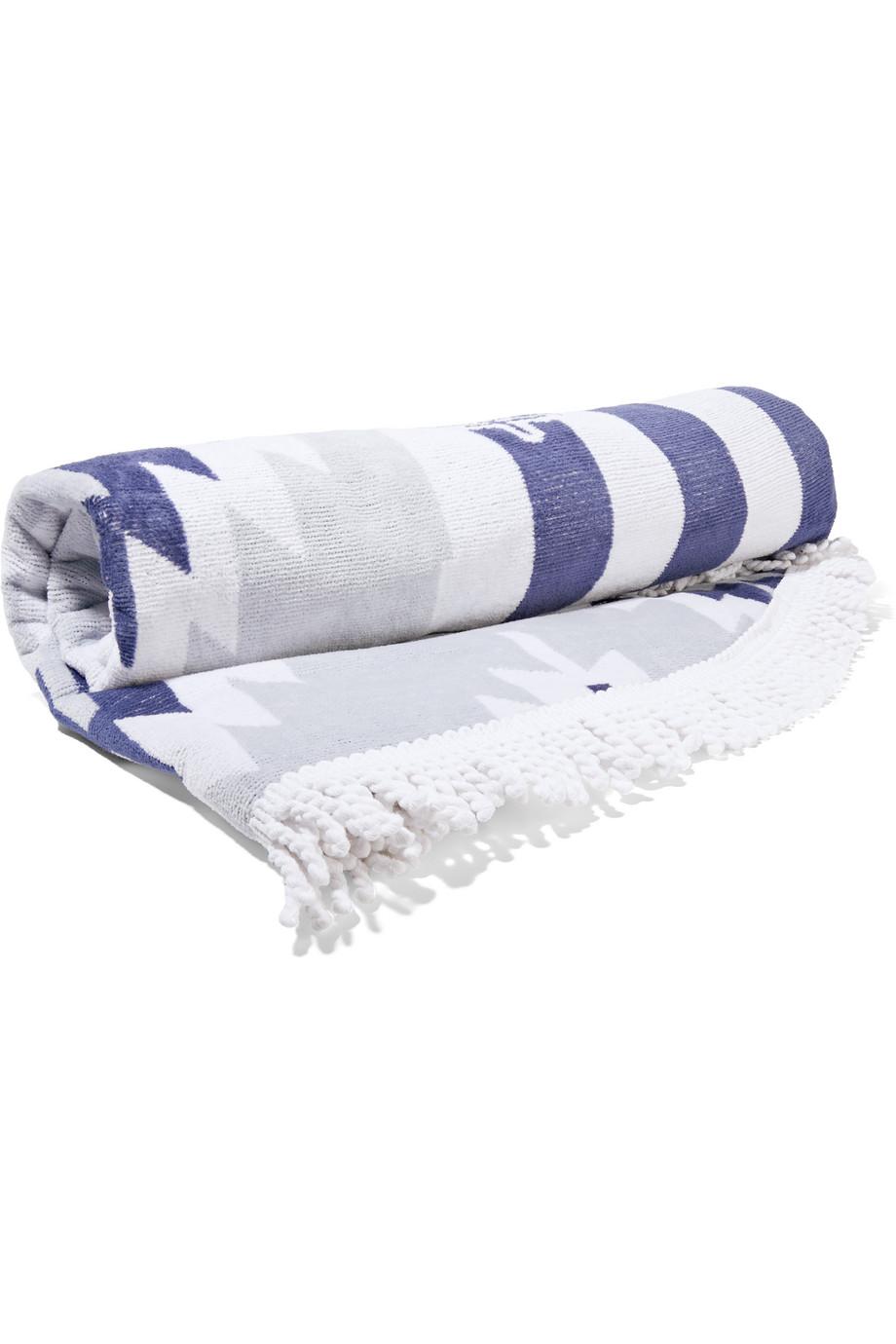 The Montauk Round Woven Cotton-Terry Towel