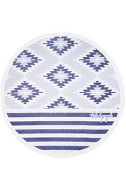 The Montauk round woven cotton-terry towel