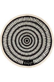 The Beach People The Tulum round woven cotton-terry towel