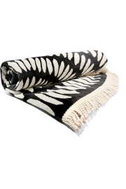 The Tulum round woven cotton-terry towel