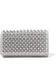 Macaron studded leather wallet