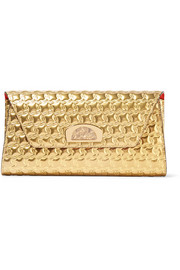 Christian Louboutin Vero Dodat metallic embossed leather clutch