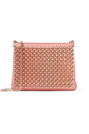 Christian Louboutin Triloubi large spiked leather shoulder bag