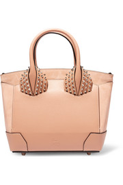 Eloise small spiked textured-leather and nubuck tote