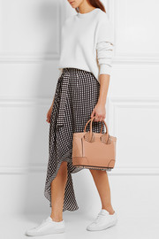 Christian Louboutin Eloise small spiked textured-leather and nubuck tote