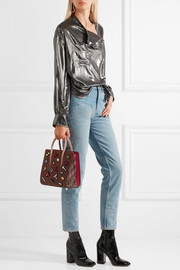 Christian Louboutin Paloma small embellished textured-leather tote