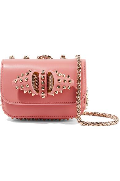 8e867e7794c Christian Louboutin | Sweet Charity mini spiked leather shoulder bag ...